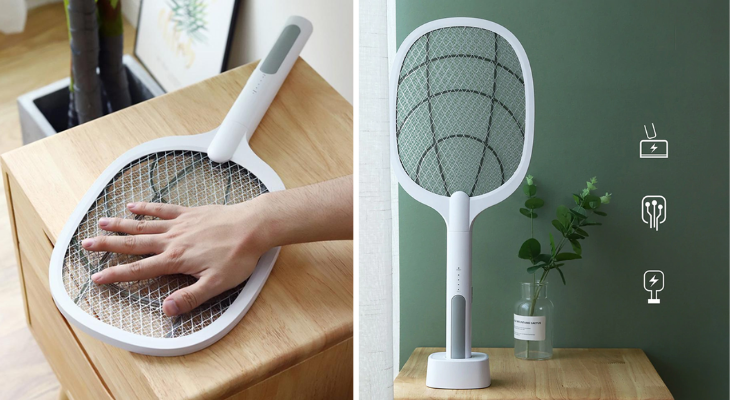 This electric racket will be your best ally.